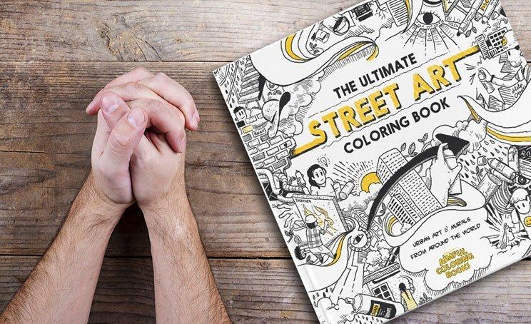 100 Street Artists Get Together To Create Epic Adult Coloring Book
